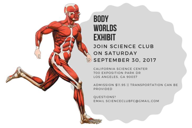 Body Worlds Exhibit Flyer