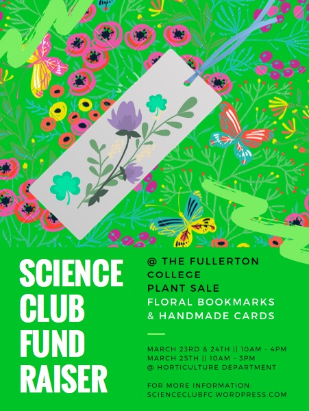 Science Club Fundraiser SP18