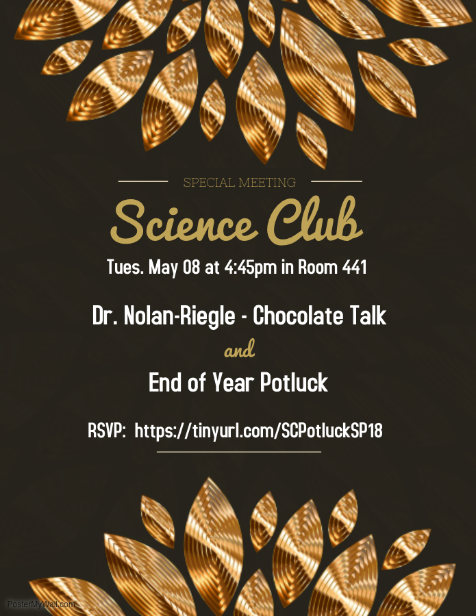 SC Potluck and Choc Talk Flier SP18