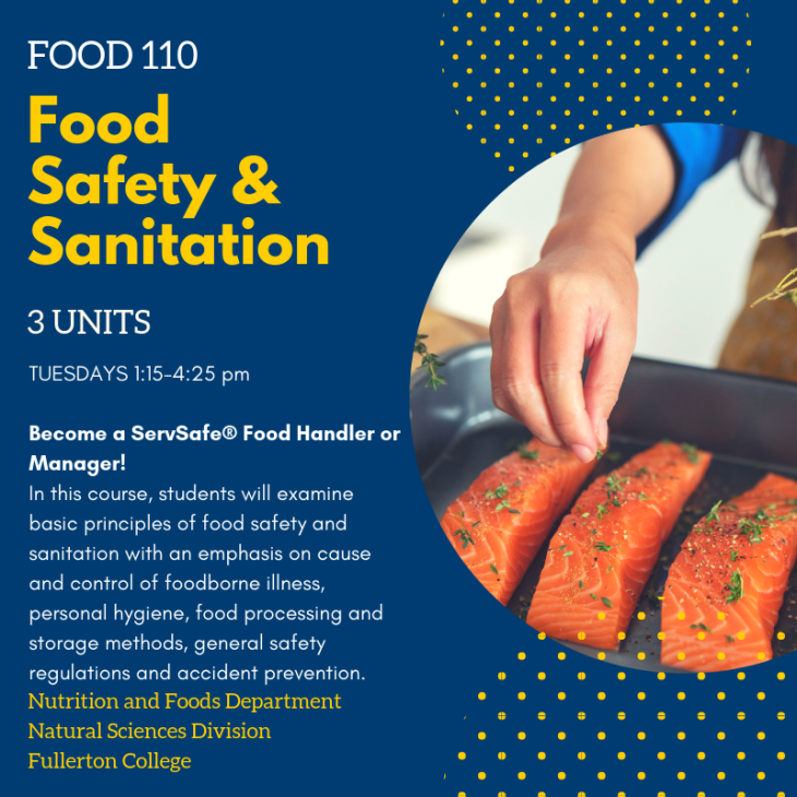 Food Safety Class Offered this Spring – Fullerton College Science Club
