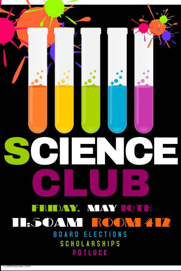 Science Club Poster 05-10-19